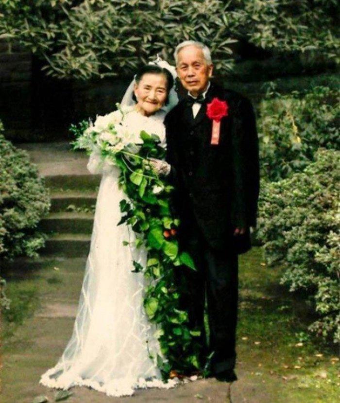 8 Çinli çiftin 70. evlilik yıl dönümü