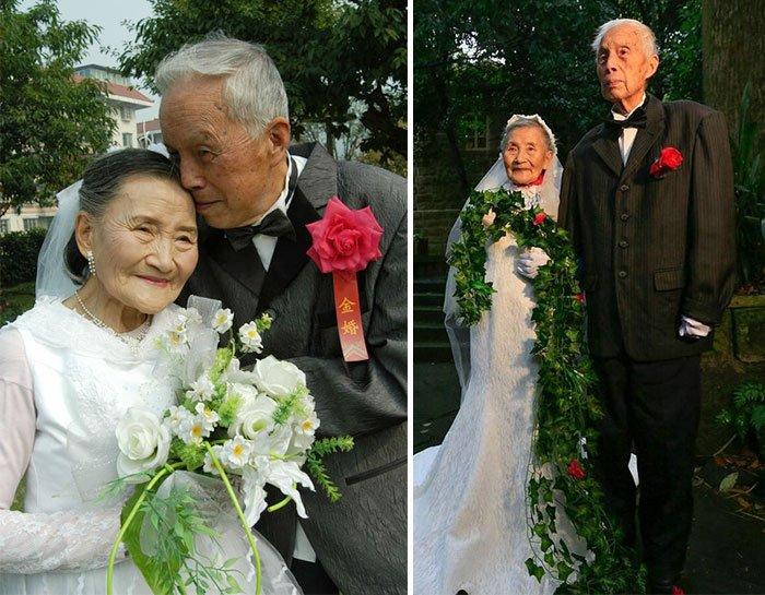9 Çocuklarının yardımıyla nikah tazeleyen çift