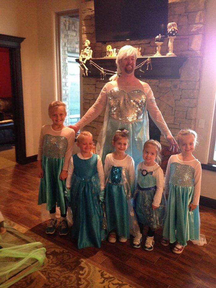 Kraliçe baba ve 5 prensesi