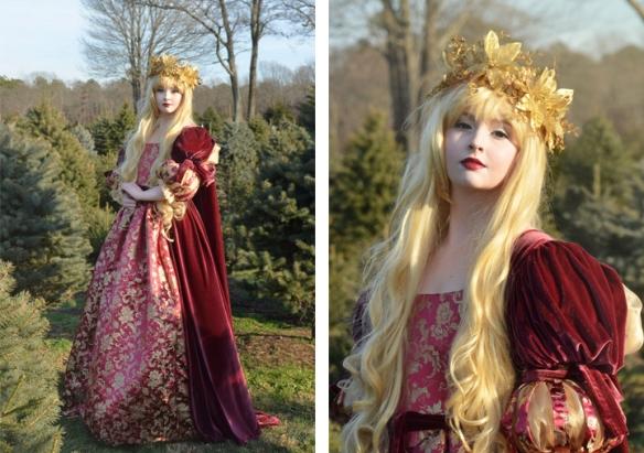 kraliyet ailesi prenses elbisesi kostümü