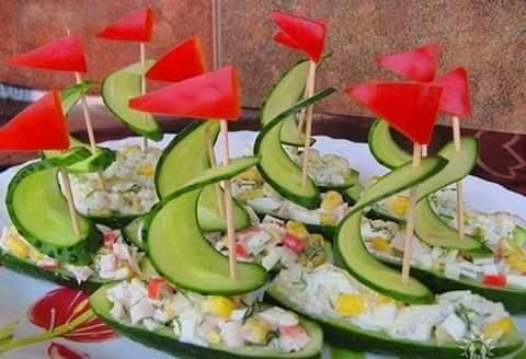 İlginç salata sunumu