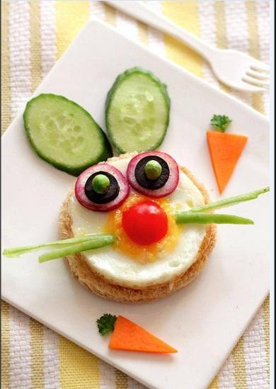 Eğlenceli kahvaltı tabağı sunum örnekleri
