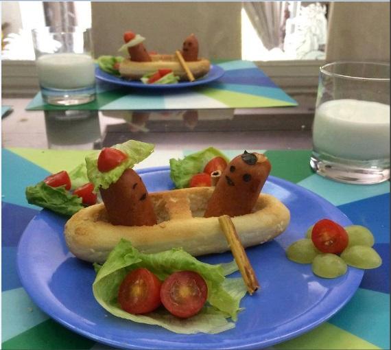 Sandal sefası sandviç tabağı hazırlama