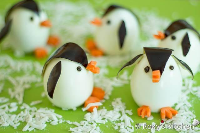 Sevimli penguen yumurtalar